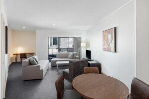 Adina Apartment Barrack Plaza Perth - one bedroom apartment loungeroom